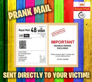 Prank Letter Mail Postage - Postal Joke Funny Package Parcel 100% Anonomous!