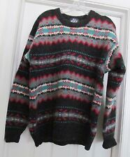 Woolrich Men's Sweater Mohair Wool Blend Crewneck Ski Scan Design Size L VINTAGE