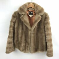 Vintage Dynamink Jacket Coat Womens Size 14 Faux Fur Made England