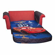 Marshmallow Children's Furniture - 2 in 1 Flip Open Sofa - Disney Cars 2, New