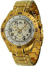Royal Swiss Automatikuhr Tachymeterskala Edelstahl IP gold Herrenuhr Armbanduhr