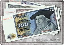 Billete marcos alemanes chapa escudo 10x14 cm tarjeta de chapa 10176 Sign