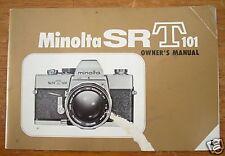 Minolta Sr-T 101 Slr Owner's Manual