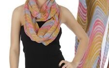 Wavy Stripe Infinity Scarf - Multi Colored