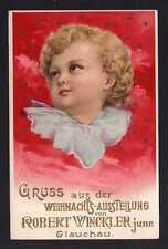 96412 AK Glauchau um 1900 Weihnachts Ausstellung R. Winckler Weihnachten