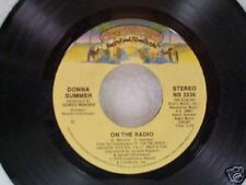 "DONNA SUMMER ""ON THE RADIO / THERE WILL ALWAYS BE A YOU""  45"