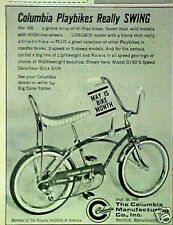 1969 Columbia Playbikes Sport 5 Bicycles~Longboy Boys Bike Swing Trade AD