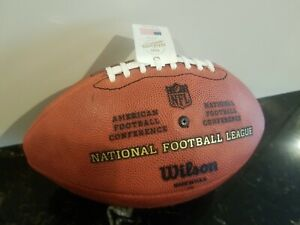 """OFFICIAL WILSON NFL """"THE DUKE"""" AUTHENTIC GAME BALL LEATHER FOOTBALL NEW - Read"""