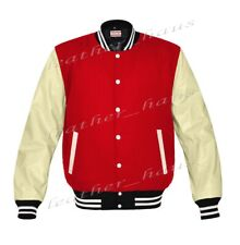 Original American Style Genuine Leather Varsity Letterman College Kid Jackets L