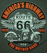 T-Shirt #413 THE MOTHER ROAD RT66, Biker- Rocker- Motorradfahrer-Shirt Route 66
