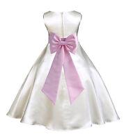 IVORY TODDLER PAGEANT FLOWER GIRL DRESS BRIDESMAID RECITAL 18M 2 4 6 8 10 12 14