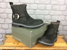 TIMBERLAND LADIES UK 4 EU 37 BLACK LEATHER NELLIE BIKER BOOTS RRP £120