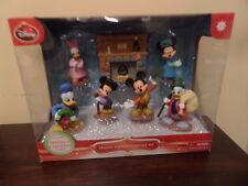 Disney Holiday Figurine Collector Set Mickey's Christmas Carol, 7 Pieces Nib