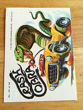1980 TOPPS WEIRD WHEELS STICKER CRASH COBRA SNAKE VIPER RACING CAR 19 EIGHTIES