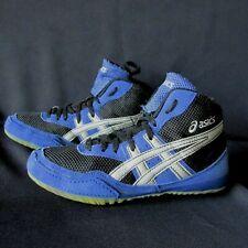 Asics Matflex Blue Black Silver C921Y Wrestling Shoes Youth 4.5