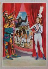 Ancienne affiche publicitaire de CIRQUE pin-up, singes, etc. M. Coluzzi - CIRCUS