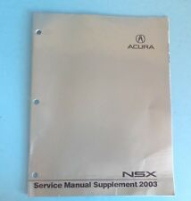 2003 Acura NSX Service Manual Supplement Guide