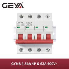 Geya Ac Mini Circuit Breaker 4P Mcb 4.5kA 6/10/16/25/32/40/50/63A C-Curve Din Ra