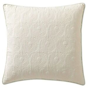 ThomasPaul Seedling Aviary Off White Cotton KING Pillow Sham Set 2pc