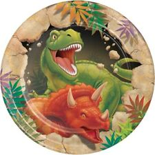 "8 x DINO BLAST 7"" PAPER PLATES DINOSAURS BOYS BIRTHDAY PARTY CHILDRENS TABLEWARE"
