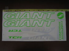 GIANT TCR COMPOSITE Stickers White, Green & Silver.