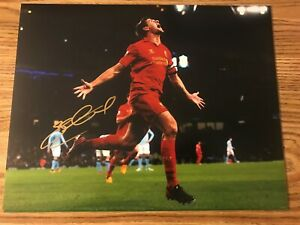 Steven Gerrard Autographed 11x14 Photo LA GALAXY LIVERPOOL ENGLAND PROOF
