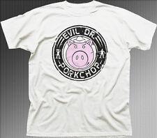EVIL DR DOCTOR Porkchop TOY STORY BIANCO T-shirt di Cotone 9895