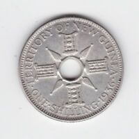 1936 TERRITORY OF NEW GUINEA Silver One Shilling Coin P-506