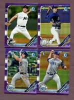 (10) 2019 Bowman Chrome Draft Purple Refractors