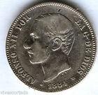 Alfonso XII 2 Pesetas 1884 Msm @@ Very Nice @@