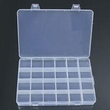 24Compartment Plastic Box Jewelry Bead Storage Container Craft Organizer Preciou