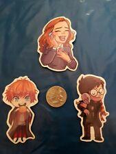 Harry Potter Hermione Granger Ron Chibi  Vinyl Decal Sticker Bomb Phone Laptop