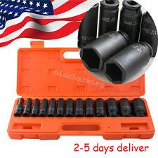 "US 13pcs 1/2"" in. Drive Deep Impact Socket Tool Set 10-32mm Metric Garage wrench"