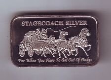 Stagecoach Horse Silver Ingot For When you have to get out of Dodge 1 ounce 1/4