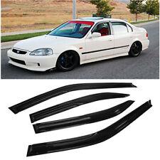 For 96-00 Honda Civic Sedan 4dr | JDM Side Window Visors Rain Guards Deflectors