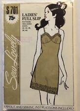 Lingerie Full Slip Sewing Pattern Lace Sew Lovely Devereaux S701