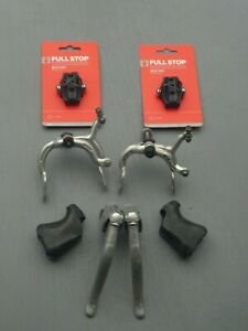 Weinmann 730 Brake Set , Levers, Callipers + New Blocks+ Hoods ( Vintage/Retro)
