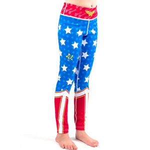 Fusion Fight Gear Wonder Woman Kids Leggings Spats