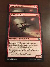 Magic the Gathering 4x GOBLIN WARDRIVER MTG Duel Deck Goblins vs. Merfolk 4