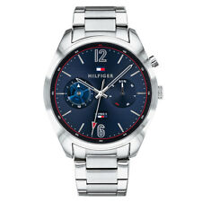 Tommy Hilfiger Silver Mens Analog Business DEACAN 1791551