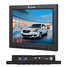 "8"" inch Small AUDIO LCD 4:3 Color Monitor Screen HDMI VGA BNC AV for PC CCTV DVR"