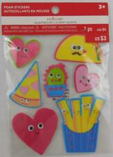 Creatology Valentine's Day Foam Stickers Google Eyes 7 PC New Food Fries Taco