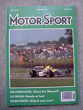Motor Sport (Aug 1991) MR2 T-Bar, TVR Tuscan, Le Mans, British & French GPs, MGs