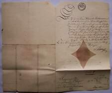 Berlin 1815 Grabstätten Kaufurkunde Grabstätte Bethmann Unzelmann Urkunde Repr.