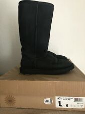 UGG Australia W Classic Talk Suede Boot Black Size 6