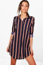 c4fc0424b98a1 NEW - Boohoo - Tall Sarai Printed Shirt Dress - Navy - RRP $35.00