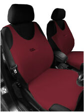 2 DARK RED FRONT VEST CAR SEAT COVERS PROTECTORS FOR AUDI A6