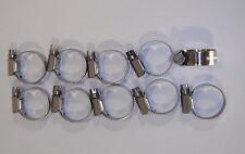 10 serflex robustes colliers de serrage  inox 314  diamètre 20 à 32 mm