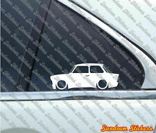 2X Lowered car outline stickers - for Trabant 601 sedan, Trabbi | classic