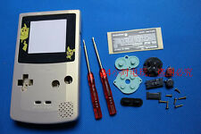 Funda Cubierta Protectora Oro B + Destornillador + Lente Para Nintendo Gameboy Color GBC